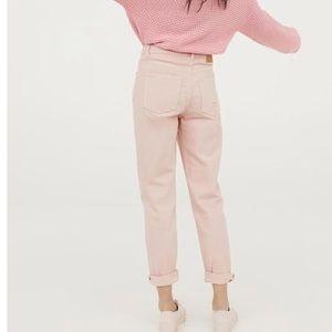 BNWOT H&M pink boyfriend jeans